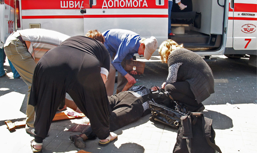27 injured in bomb explosions in Dnipropetrovsk, Ukraine